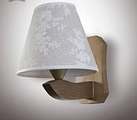 Бра модерн деревянное, дуб