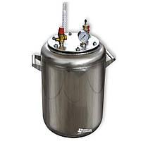Автоклав бытовой газовый из нержавейки «УТех-А24» (14 литровых/24 пол литровых банок)