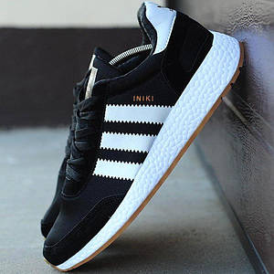 Мужские кроссовки Adidas Iniki Runner Boost Black/White