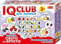 Изучение предметов Изучаем овощи и фрукты IQ-club для малышей (288703)