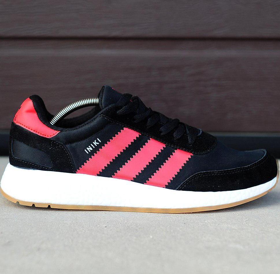 e3edf122 Мужские кроссовки Adidas Iniki Runner Boost Black/Red: купить в ...