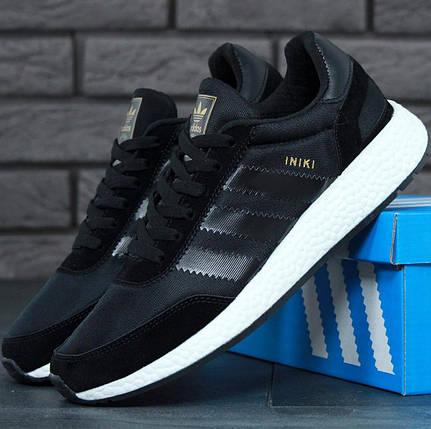 Мужские кроссовки Adidas Iniki Runner Boost Black, фото 2
