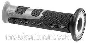 Мото грипсы Pro Grip Duo density на мотоцикл черно-серые длина 122 мм диаметр 22мм  PA072500GR02