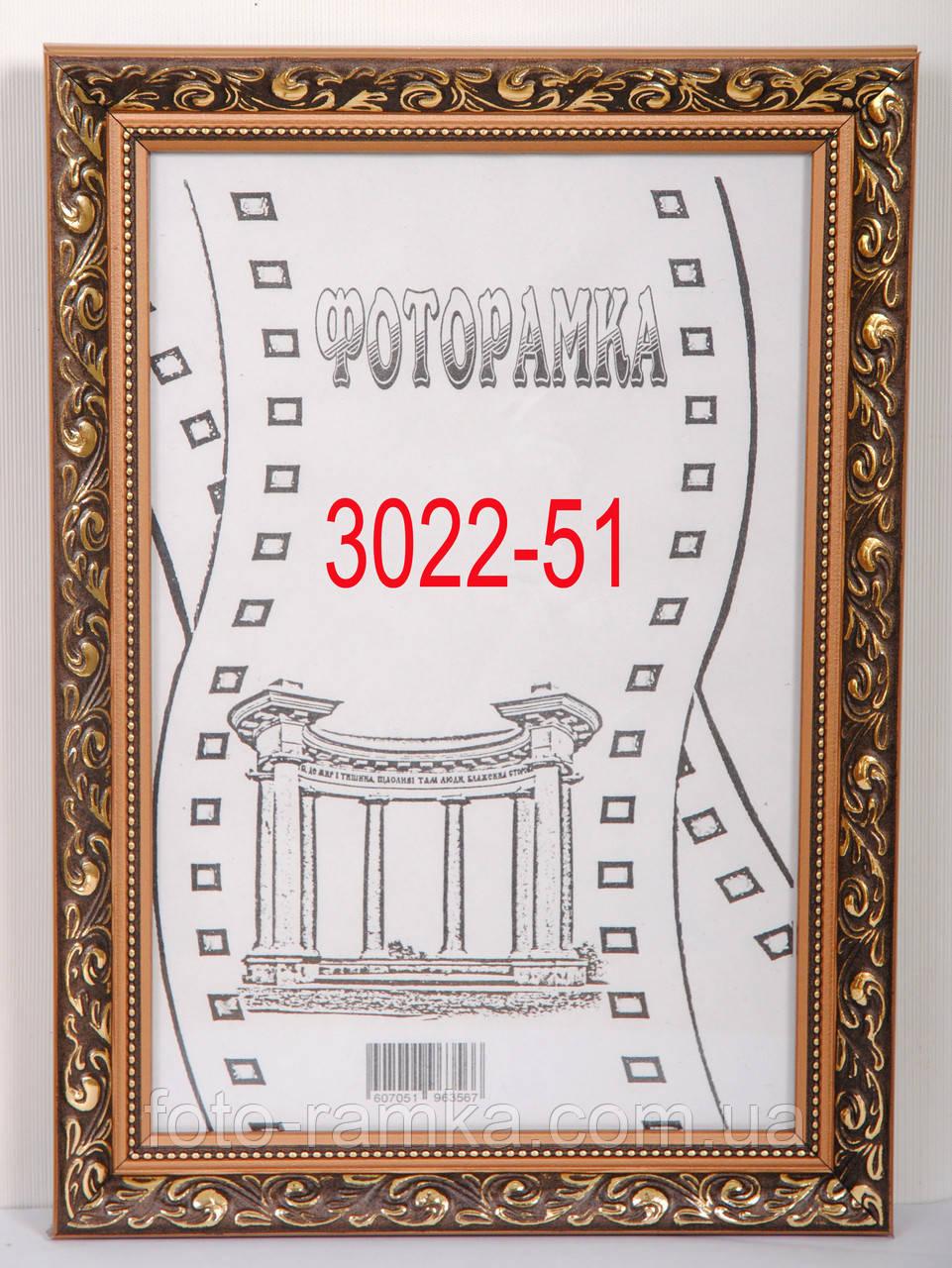 Фоторамка 30х40 багет 3022