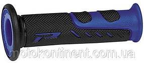 Мото грипсы Pro Grip Duo density на мотоцикл черно-синие длина 122 мм диаметр 22мм  PA072500 BL02 BLUE/BLACK