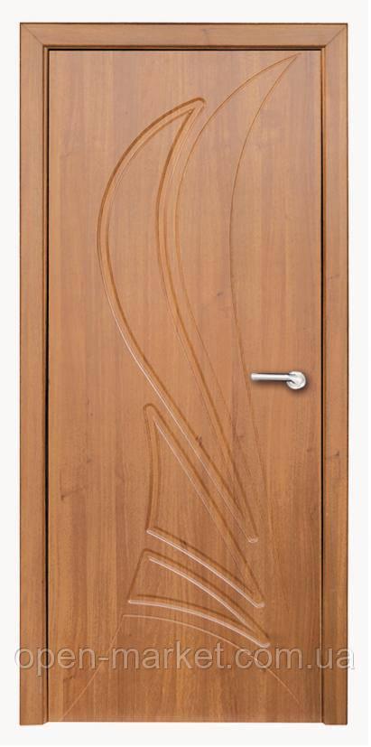 Модель Корона (світлий горіх) ПГ, міжкімнатні двері, Миколаїв