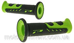 Мото грипсы Pro Grip Duo density на мотоцикл черно-зеленые длина 122 мм диаметр 22мм PA072500VE02