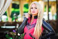 Модная женская трикотажная кофта на молнии, фото 1