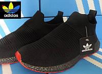 Кроссовки Adidas Daroga Black - сетка Primeknit. Летние мужские кроссовки Адидас, реплика (43,44р)