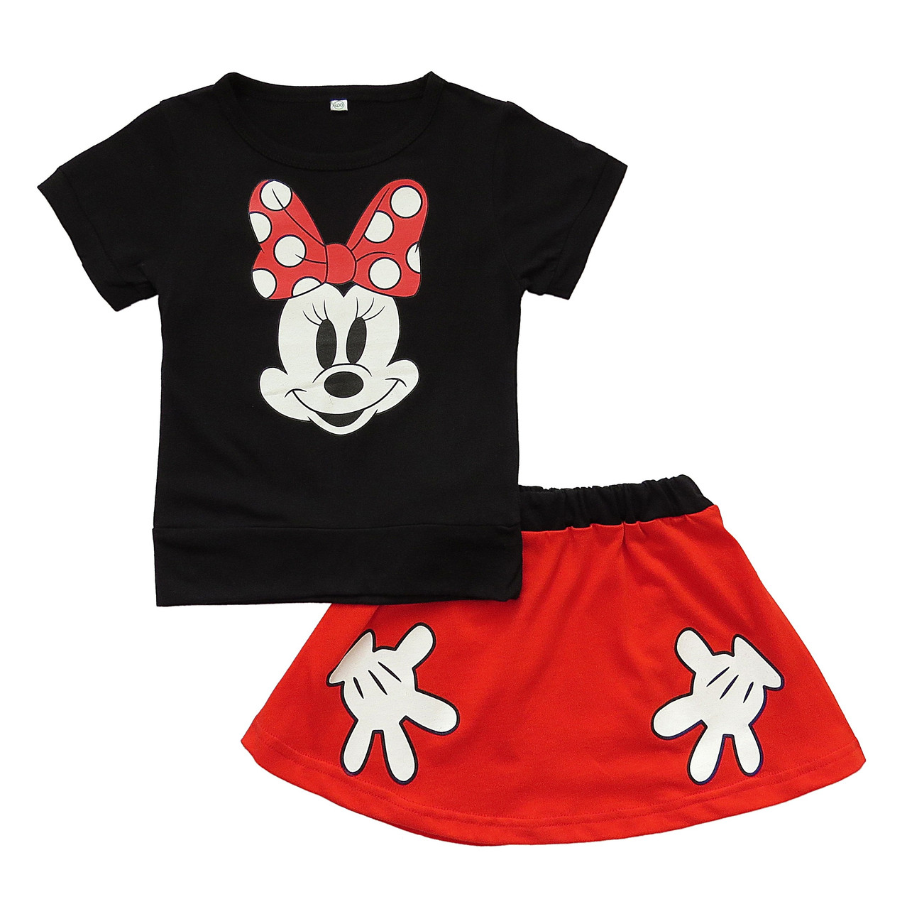 Летний костюм Minnie Mouse для девочки. 110, 120, 130 см