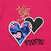 """Летний костюм """"Сердца"""" для девочки. 86, 98, 110, 122 см, фото 3"""