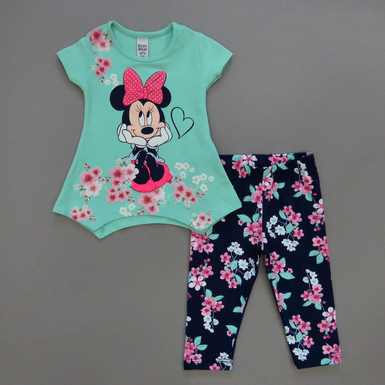 Летний костюм Minnie Mouse для девочки. Маломерит.