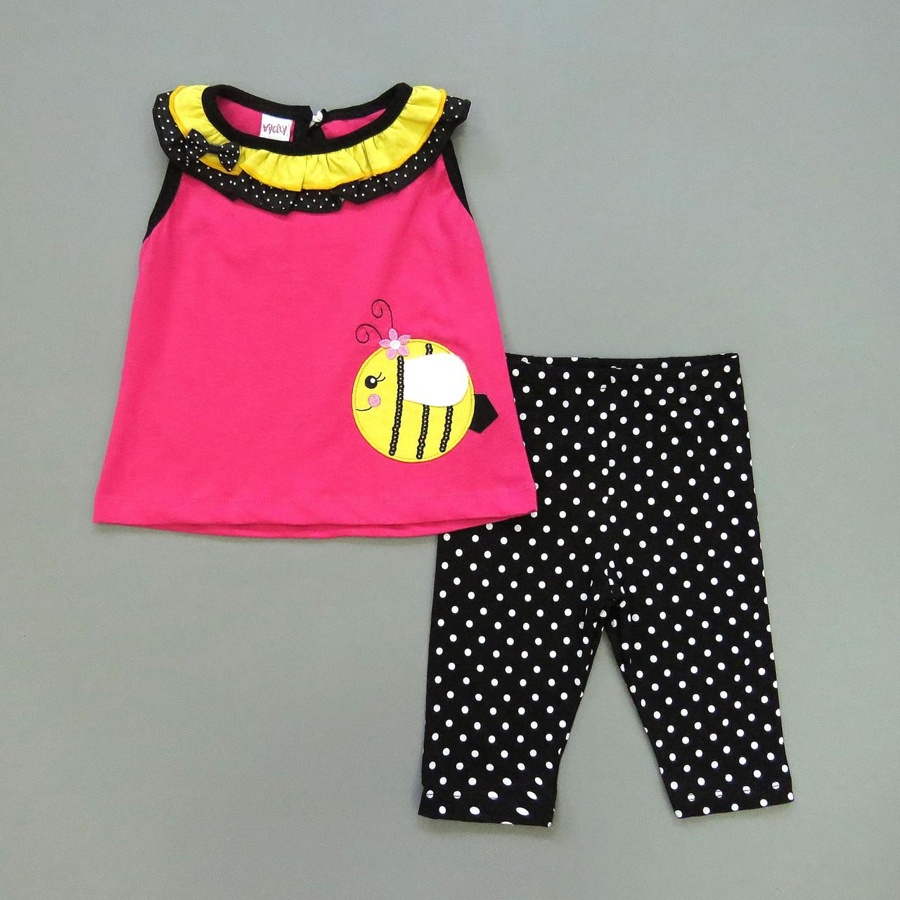 "Летний костюм ""Пчёлка"" для девочки. 1, 3, 4 года"