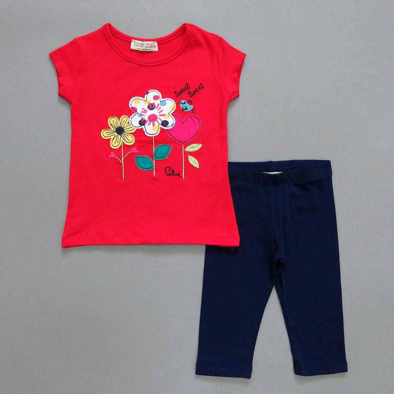 """Летний костюм """"Цветы"""" для девочки. 92-98 см"""
