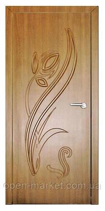 Модель Тюльпан (золотой дуб) ПГ, межкомнатные двери, Николаев, фото 2