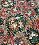 Песнь уходящего лета 1827-6, павлопосадский платок шерстяной с шелковой бахромой, фото 10