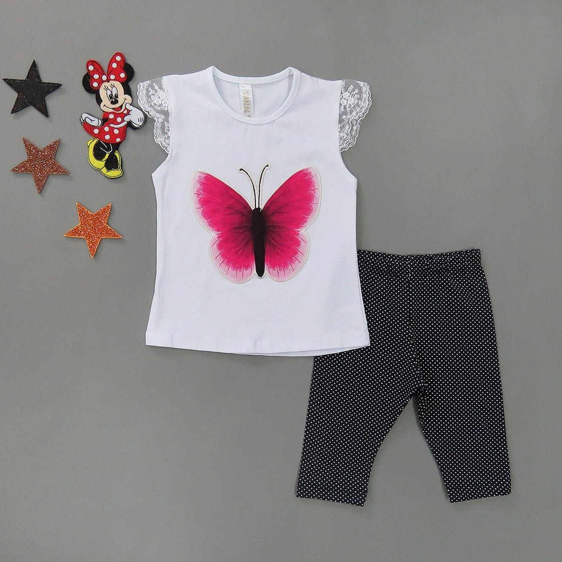"""Летний костюм """"Бабочка"""" для девочки. 86 см"""