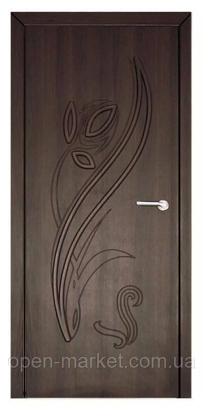 Модель Тюльпан (шоколадний горіх) ПГ, міжкімнатні двері, Миколаїв