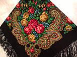 Незнакомка 779-18, павлопосадский платок шерстяной  с шелковой бахромой, фото 6