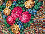 Незнакомка 779-18, павлопосадский платок шерстяной  с шелковой бахромой, фото 7