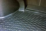 Резиновый коврик багажника Kia Rio 2006- (седан) Avto-Gumm, фото 3