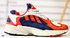 Кроссовки ADIDAS красные замшевые с бежевыми и синими вставками
