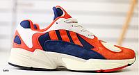 Кроссовки ADIDAS красные замшевые с бежевыми и синими вставками, фото 1