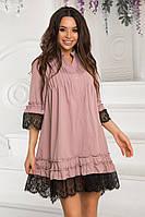 Красивое свободное платье в расцветках 221 (676)