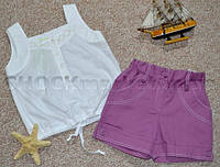 Костюм майка и шорты для девочки р.110-122