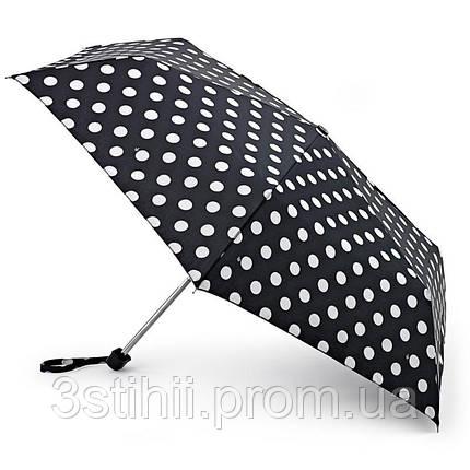 Зонт женский Fulton Miniflat-2 L340 White Spot (Белый горох), фото 2