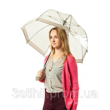 Зонт-трость женский Fulton Birdcage-1 L041 Silver (Серебряный), фото 2