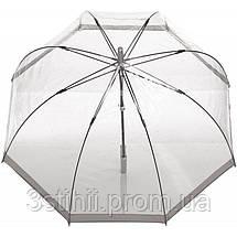 Зонт-трость женский Fulton Birdcage-1 L041 Silver (Серебряный), фото 3