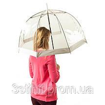 Зонт-трость женский Fulton Birdcage-1 L041 White (Белый), фото 2