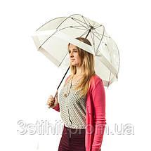 Зонт-трость женский Fulton Birdcage-1 L041 White (Белый), фото 3