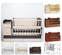 """Детская кроватка """"Трансформер"""" (кроватка+комод-пеленатор+стол)"""