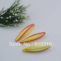 Бутон лилии 11 см  жёлтый с розовым