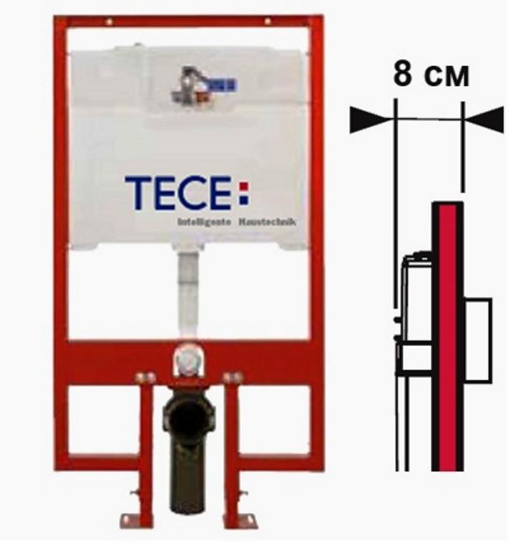 TECE инсталляция для унитаза глубина 8см TECE 9300040