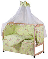 Детское постельное, постельный комплект 8 предметов в кроватку
