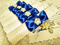 Свадебные пригласительные в свитках Нежность (синие)