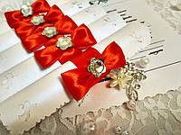Свадебные пригласительные в свитках Нежность (красные)