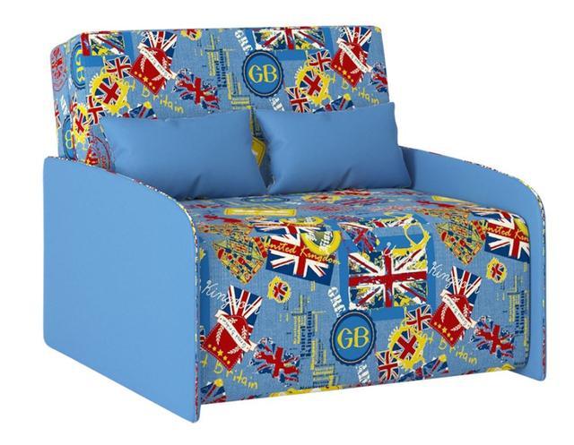 Диван детский Антошка ткань Катони Британия-бока Британия комбин голубые