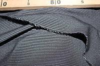 Ткань трикотажная костюмная №202 графит, очень мелкий прямоугольник, фото 1