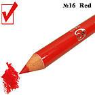 Косметический Карандаш с Точилкой Цвет Матовый Красный Red для Губ Тон 16 Упаковкой 12 шт., фото 3