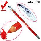 Косметический Карандаш с Точилкой Цвет Матовый Красный Red для Губ Тон 16 Упаковкой 12 шт., фото 4
