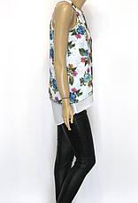Шифонова блузка з квітковим принтом , фото 2
