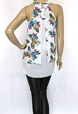 Шифонова блузка з квітковим принтом , фото 3