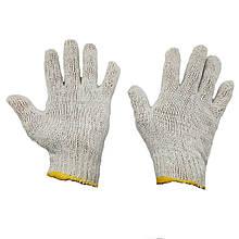 Перчатки рабочие белые трикотажные хб без протектора точки