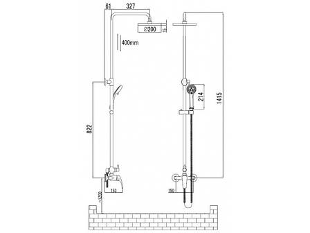 Душевая система Imprese Jesenik (T-15140), фото 2