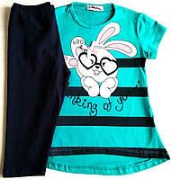 """Летний костюм (комплект) для девочки (5-6 лет/рост 110-116), """"Atabay"""" Турция"""