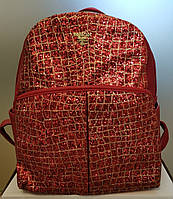 Красивый женский  городской рюкзак красного цвета с  блестками РАСПРОДАЖА!!!